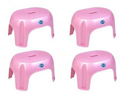 Signet Logic Simba Oval Stool  Pack of 4  08 inch  Pink