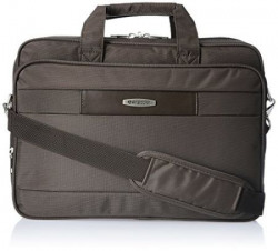 Aristocrat Fabric Brown Laptop Bag SLPANLPBRN