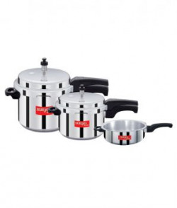 Surya Accent  Isi  Aluminium Pressure Cooker set Of 3