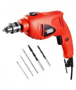 Black  Decker 550w10mm Drill Kit With Free 3m Mask  Ear Plug Hd5010va5