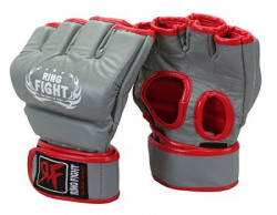 Ceela Sports Ring Fight Grappling Gloves GreyRed Large