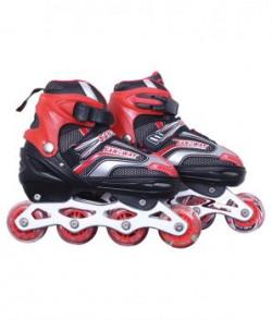 Dezire Red And Black Adjustable Roller Skates