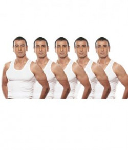 Rupa White Cotton Vest Pack Of 5