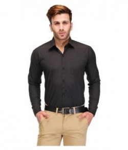 Unique For Men Black Formal Slim Fit Shirt
