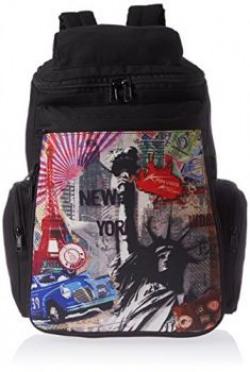 Kanvas Katha 10 Ltrs Black Casual Backpack KKKS002B