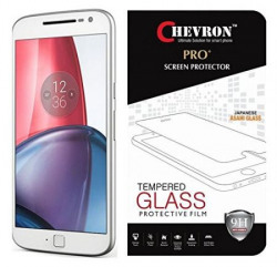 Chevron Tempered Glass For Moto G Plus 4th Gen