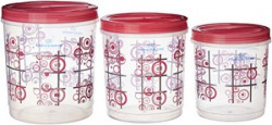 Princeware Twister Package Container Set of 3 Pink