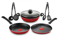 Pigeon Nonstick Cookware Gift Set 8 Pcs red