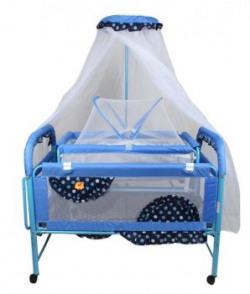 Baybee Maginificia Crib N Cradle  Blue