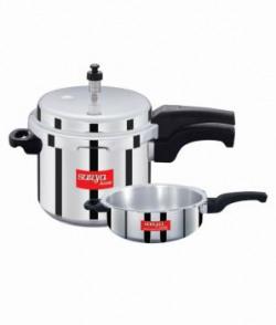 Surya Accent Aluminum Pressure Cooker 5ltr Ib  Pressure Pan Combo