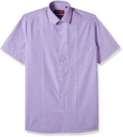 Peter England Mens Formal Shirt  8907411744559PSH3160544638Purple and Blue