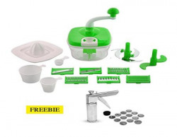 Floraware 14Piece Manual Food Processor amp 14Piece Kitchen Press Combo Green