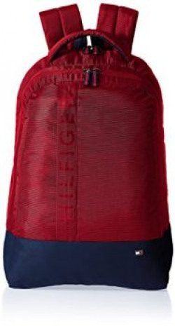 Tommy Hilfiger Biker Club  Basil 216 ltrs Red Casual Backpack THBIKOL04BAS