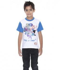 Chhota Bheem White  Blue Cotton T Shirt
