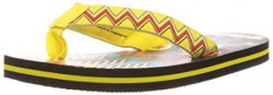 Keymonache Unisex Yellow and Black Vinyl FlipFlops and House Slippers   8C UK26 EU