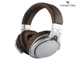 Sound One B5 Bluetooth Wireless Headphones with Mic Silver Brown