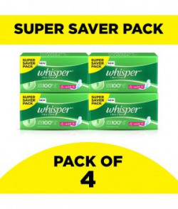 Whisper Ultra Sanitary Pads Xtra Large Wings 30 Pc Pack Pack Of 4