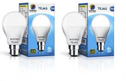 Wipro 9W LED Bulb Cool Day Light  Tejas Pack of Two