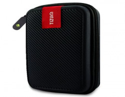 TIZUM External Hard Drive Case for 25Inch Hard Drive  Double Padded Black