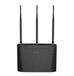 DLink DSL2877AL Dual Band Wireless AC750 ADSL2 Modem Router Black