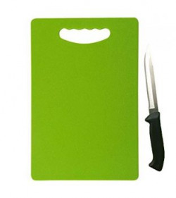 Florawarereg Plastic Chopping Board 1 Knife Free Green