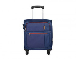 Safari Hush Polyester 55 cms Blue Soft Sided Luggage Hush4W55Blue