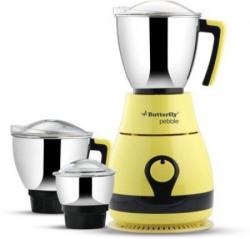 Butterfly Pebble 600Watt Mixer Grinder with 3 Jars Yellow