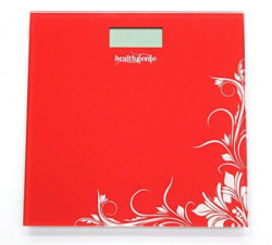 Healthgenie Digital Weighing Scale HD221 Red