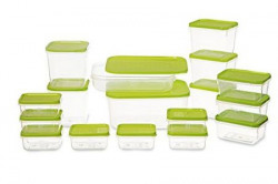 All Time Plastics Polka Container Set 65 Litre Set of 17 Green