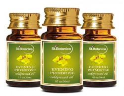 StBotanica Evening Primrose Pure Coldpressed Carrier Oil 30ml  3 Bottles