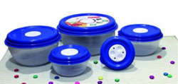 Princeware Fresh Ven Bowl Package Container Set 5Pieces Blue
