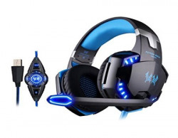 Kotion Each G2200 71 channel USB Over Ear Gaming Headphones for PC with Vibration BlackBlue