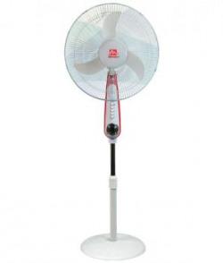 Mercury 18 Inch Ms4018c Rechargeable Pedestal Fan White