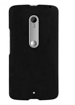 Chevron Rubberized Back Cover Case for Motorola Moto X Play Black