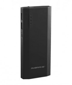 Ambrane P1111 10000 Mah Power Bank  Black  For Ios And Android Devices