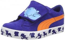 Puma Boys Puma S Vulc Tom amp Jerry Kids Sodalite Blue Cloisonneacute and Orange Sneakers  13 UK