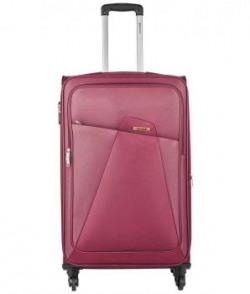 Safari Maroon Polyester Trolley Bag