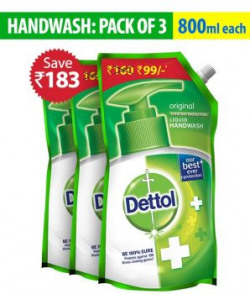 Dettol Original Handwash Pouch 800ml packof3