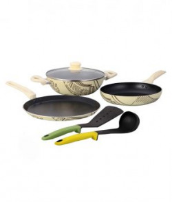 Wonderchef Picasso Cookware Set With Free Spoon  Spatula