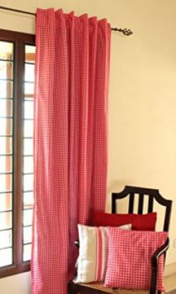 Blue Alcove Pinwheel Door Curtain  51quotx82quot Red and White SGCT19