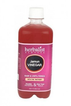 Herbalists Raw Jamun Cider Vinegar Unprocessed and Unrefined with Mother Vinegar 500ml