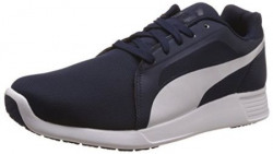 Puma Mens STTrainerEvo Peacoat and White Sneakers  8 UKIndia 42 EU