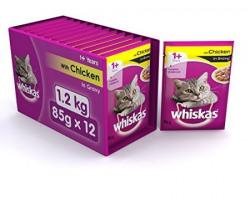 Whiskas Wet Meal Adult  Cat Food Chicken in Gravy 1285g