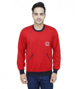 Eprilla Red And Navy Blended Cotton Sweatshirt