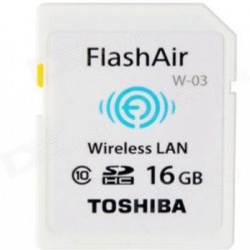 Toshiba Wireless Lan 16 GB SDHC Class 10 20 MBs  Memory Card