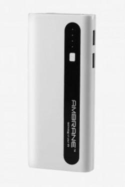 Ambrane P1310 13000 mAh Power Bank White  Black