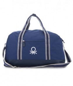 United Colors Of Benetton Blue Polyester Travel Duffle Bag