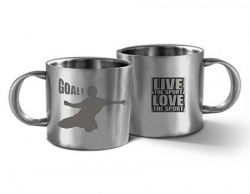 Hot Muggs Live the Sport  Goal Stainless Steel Double Walled Mug 350 ml 1 Pc