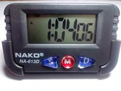 Nako NA613D Quartz Clock for Car Black