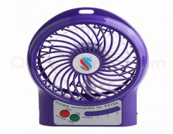 Toyzstation Powerpak 4Inch Rechargeable Battery USB Mini Fan Color May Vary